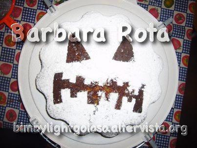 Torta zucca ciocco mandorle di Barbara Rota
