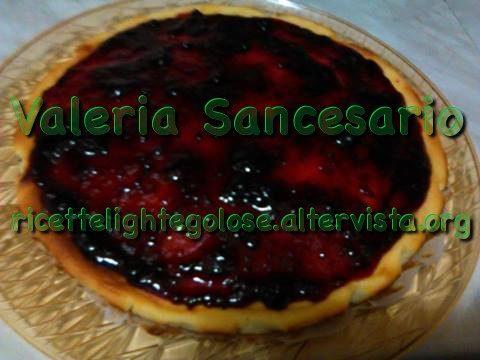 Cheesecake ai frutti di bosco con cottura