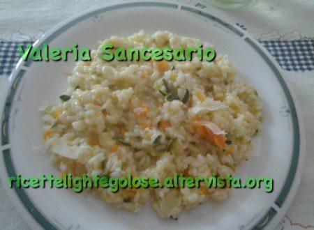 Risotto con carote e zucchine