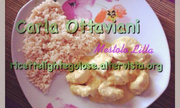Pollo al latte curry e nocciole