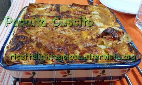 Lasagna al ragù di verdure