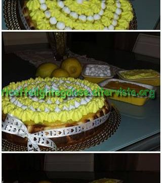 Cheese cake al limone con crema lemon curd e panna montata