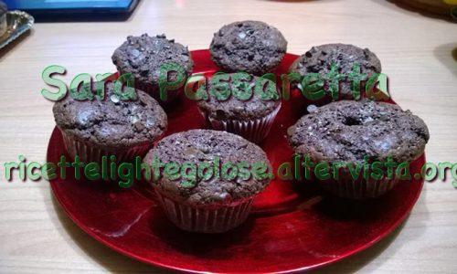 Muffin al cioccolato con cuore morbido al cocco