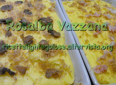 Tortino di patate ai funghi e prosciutto cotto
