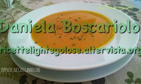 Zuppa di zucca e cannellini