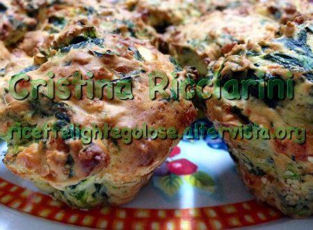 Muffin di formaggio agli spinaci