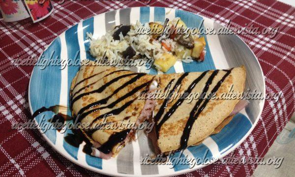 Crepes salate bilanciate Dieta Zona