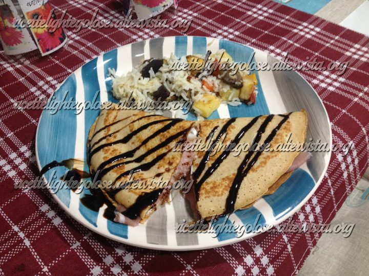 Crepes salate bilanciate Dieta Zona