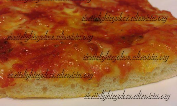 Pizza con farina di semola a lunga lievitazione