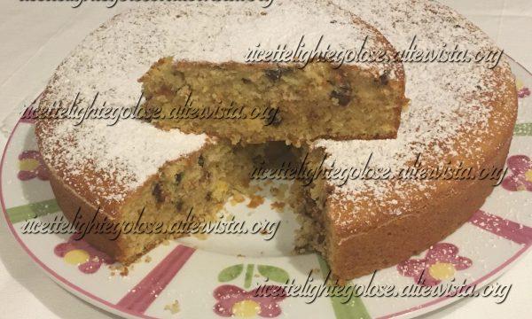Torta arancia, cannella e gocce di cioccolato